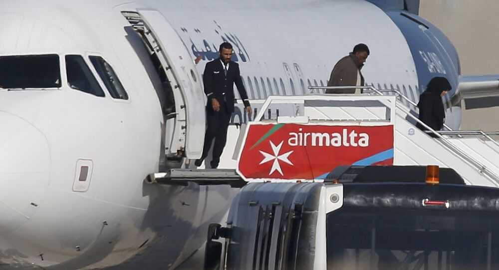 Avion détourné à Malte