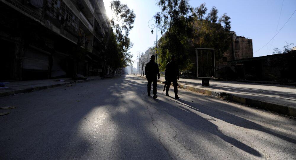 Des militaires syriens à Alep