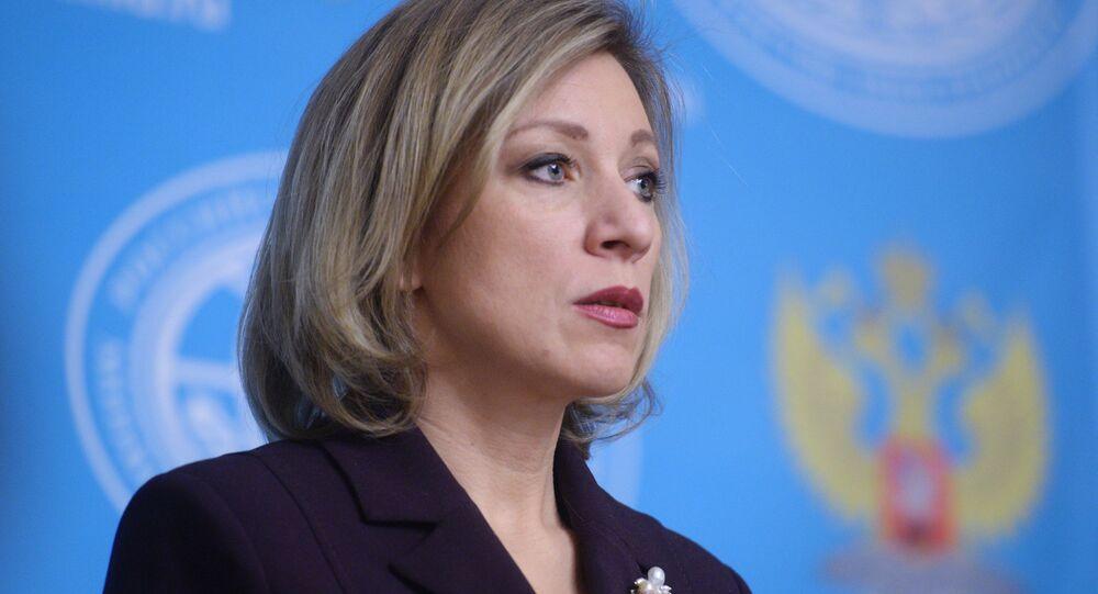 La porte-parole du ministère russe des Affaires étrangères Maria Zakharova