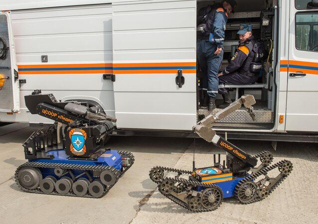 Un robot doté d'un télégammaviseur