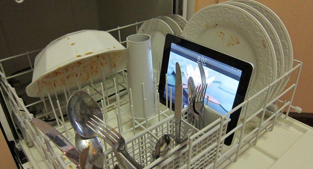 Un iPad dans un lave-vaisselle