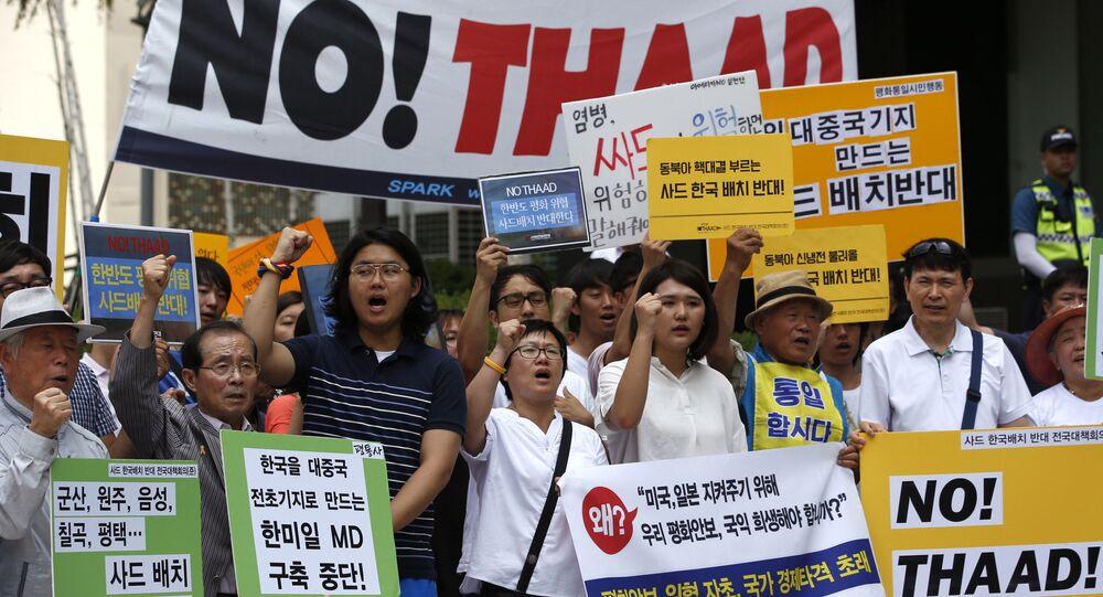 Séoul, protestations contre le déploiement du THAAD