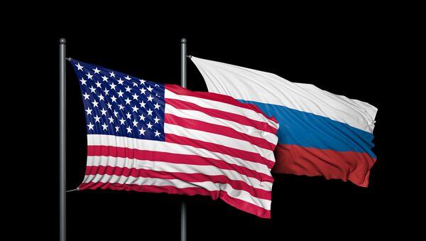 Banderas de EEUU y de Rusia - Sputnik France