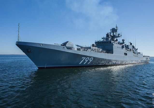 La frégate russe Amiral Makarov