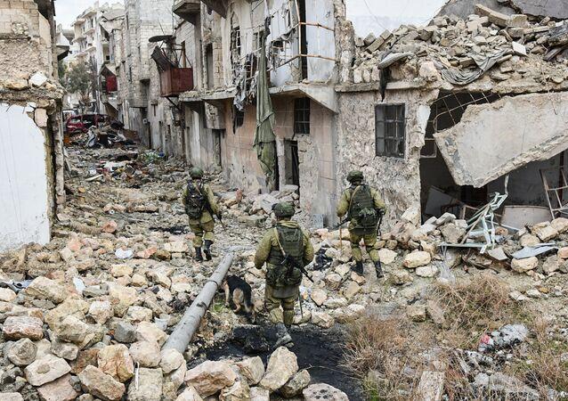 Des sapeurs russes en Syrie. Image d'illustration