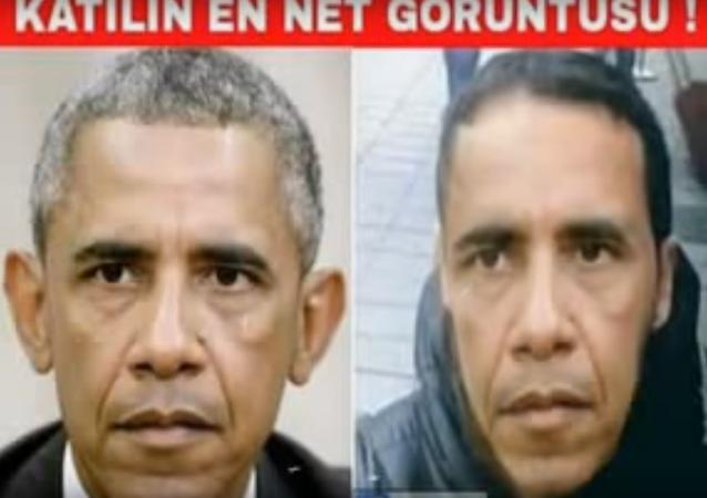 Un collage turc présente Obama comme le tireur de la fusillade d'Istanbul