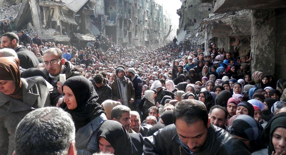 Des migrants syriens