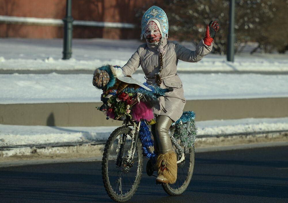 Deuxième parade cycliste d'hiver de Moscou