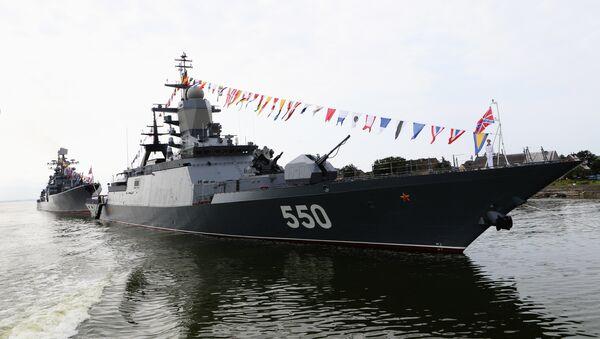 Генеральная репетиция парада ко Дню ВМФ России в Балтийске - Sputnik France