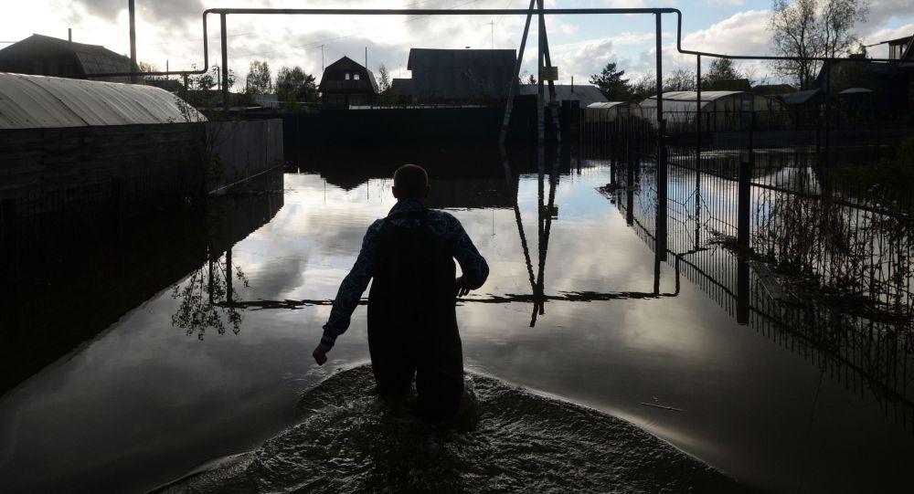 Inondation en Sibérie. Image d'illustration