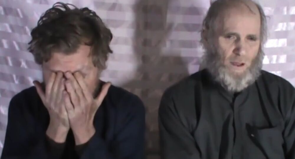 Un Américain et un Australien captifs des Talibans adressent un message à Trump