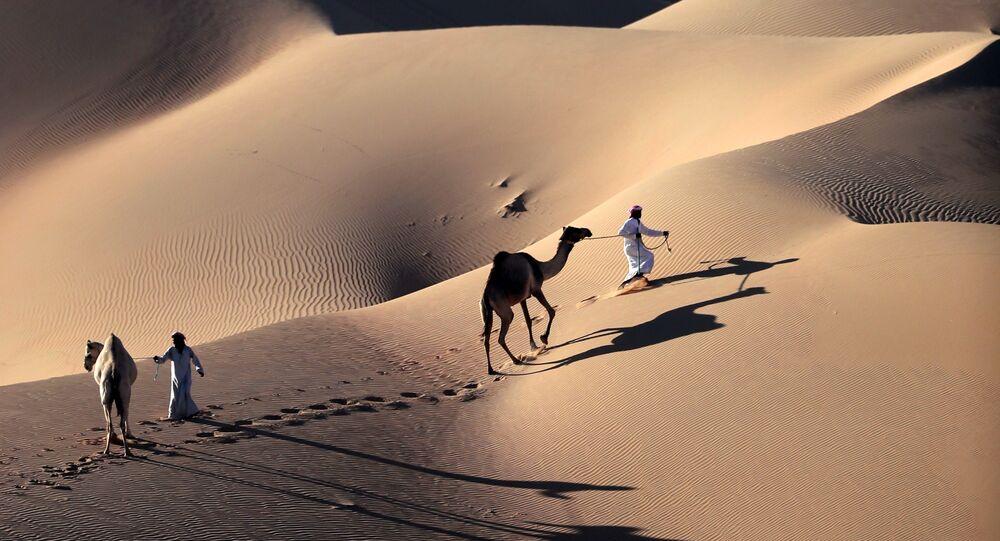 Le désert de Liwa à quelque 250 km à l'ouest de l'émirat d'Abou Dabi