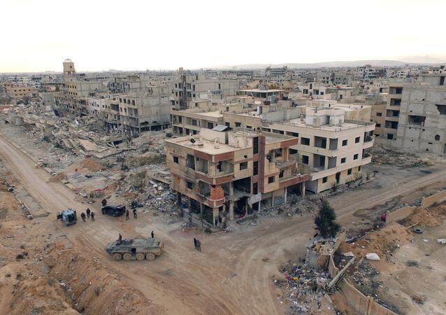 Deraya, quartier de la banlieue sud-ouest de Damas
