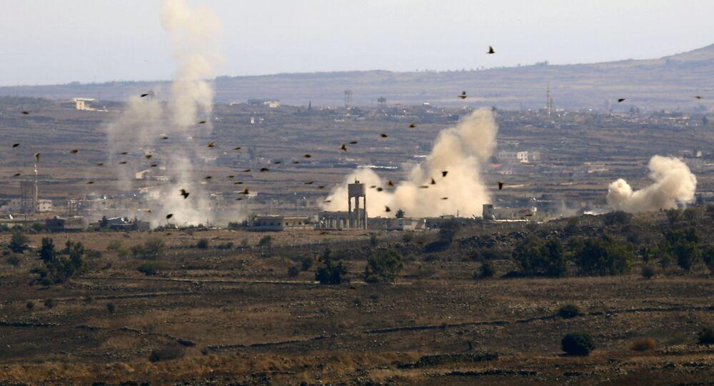 Frontière d'Israël avec la Syrie, image d'illustration
