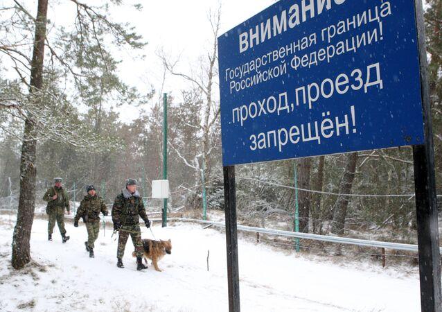 A la frontière entre la Russie et la Lituanie