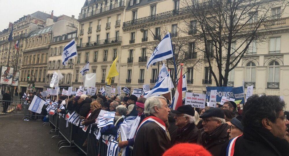 Des militants pro-israéliens manifestent à Paris