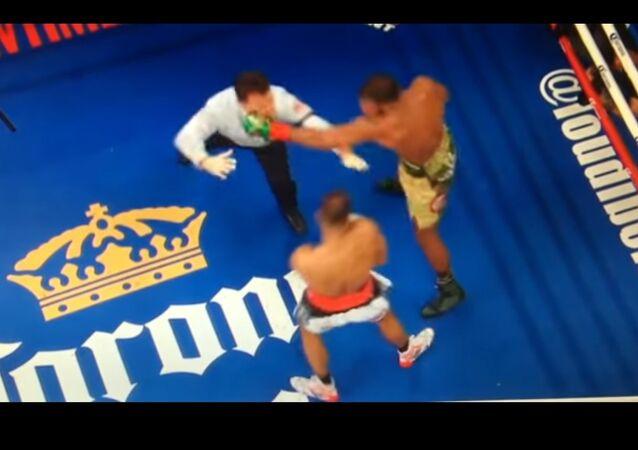 match de boxe entre Badou et DeGale
