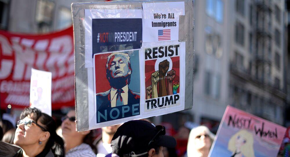 Manifestation anti-Trump à Los Angeles