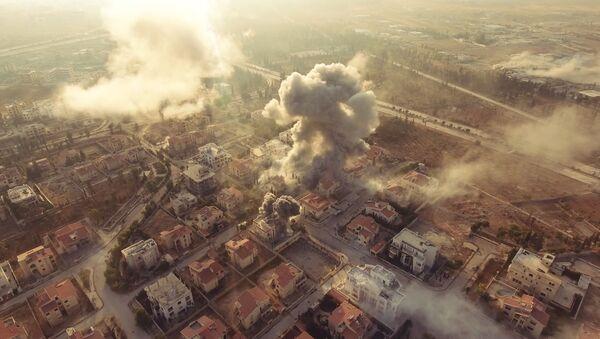 Оборона Академии Башара Асада в Алеппо. Правительственные войска наносят удары по позициям боевиков - Sputnik France