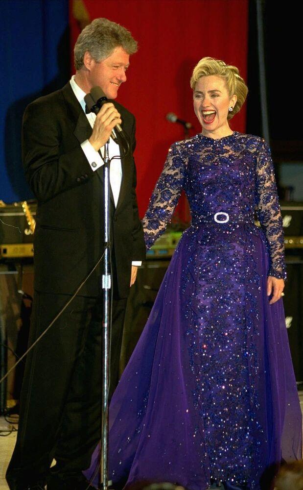 Le président américain Bill Clinton et son épouse Hillary en 1993
