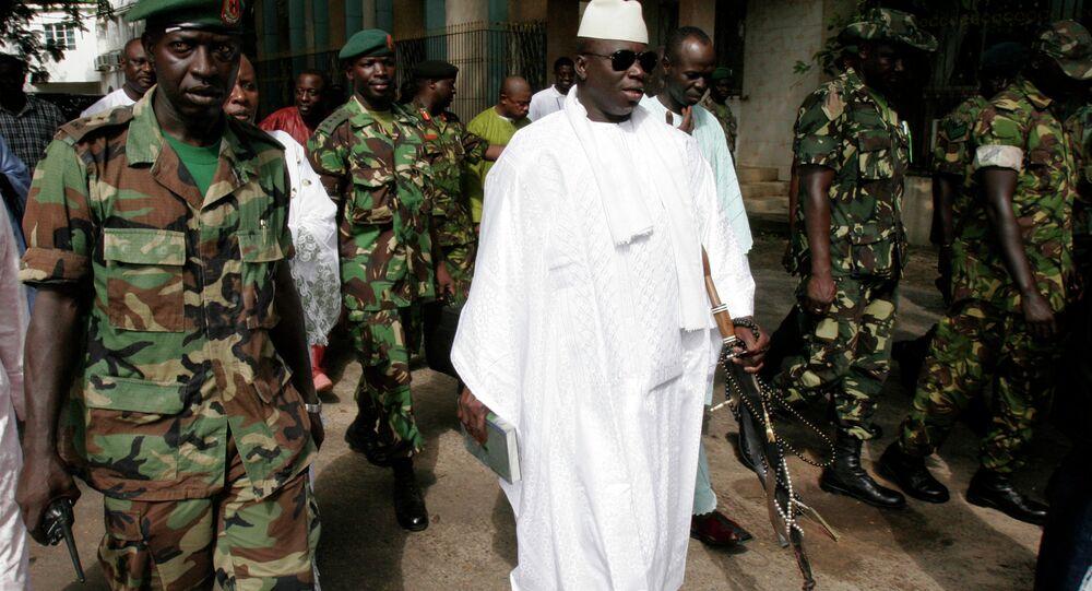Le président sortant de la Gambie Yahia Jammeh