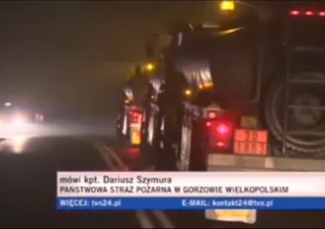 Accident d'un camion US en Pologne