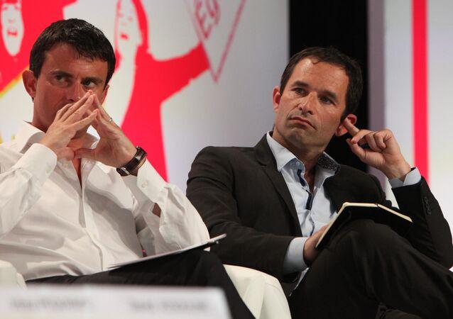 Manuel Valls et Benoit Hamon