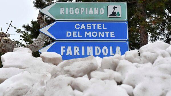 La route menant vers l'hôtel Rigopiano - Sputnik France