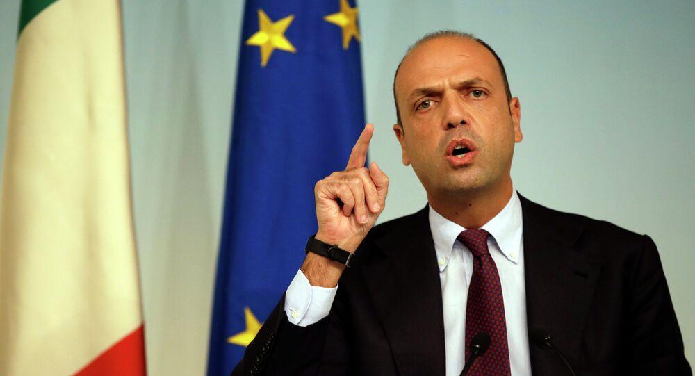 Le ministre italien des Affaires étrangères Angelino Alfano