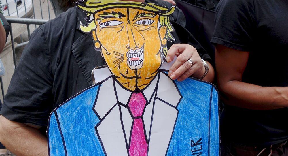 Manifestation anti-Trump. Image d'illustration