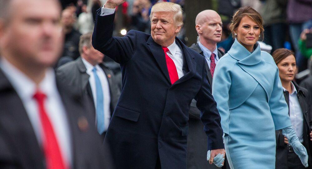 Président Donald Trump et sa femme Melania lors de son investiture à Washington.