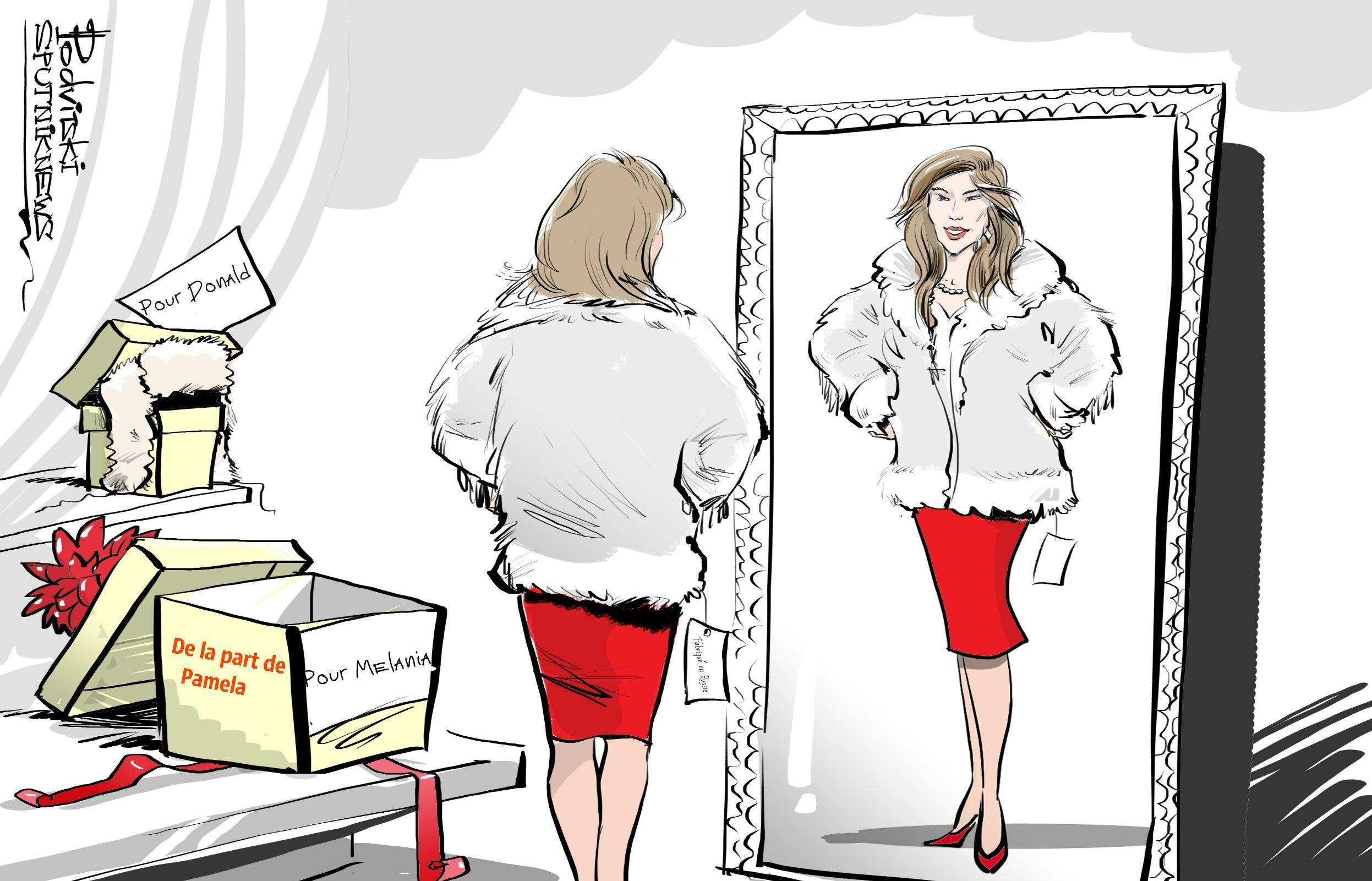 Pamela Anderson offrira à Melania Trump un manteau en fausse fourrure russe
