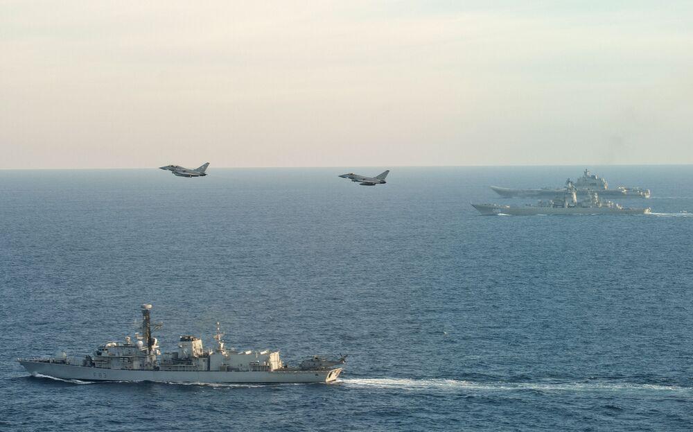 L'escorte du groupe aéronaval de l'Amiral Kouznetsov