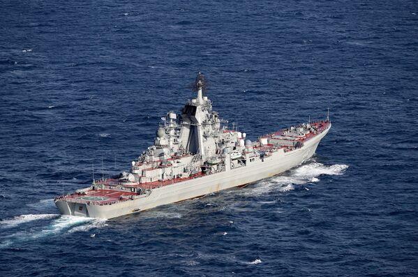 L'escorte du groupe aéronaval de l'Amiral Kouznetsov - Sputnik France
