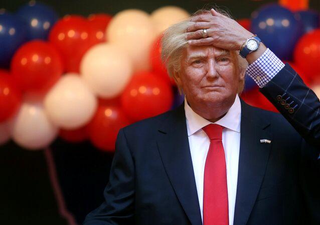une statue de cire de Trump dans le musée de cire à Madrid