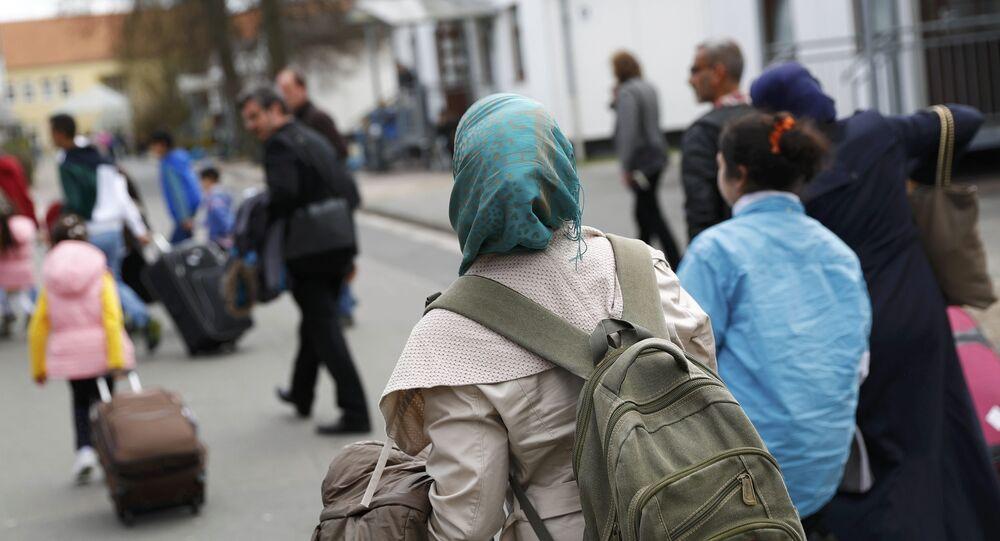 Un centre d'accueil des réfugiés, Allemagne