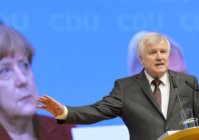 Le président du CSU Horst Seehofer