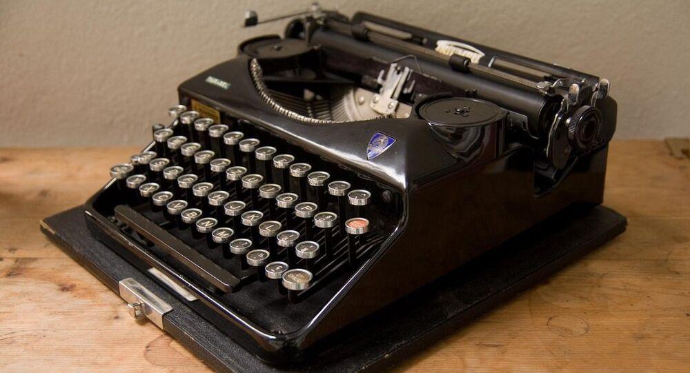 Machine à écrire. Image d'illustration