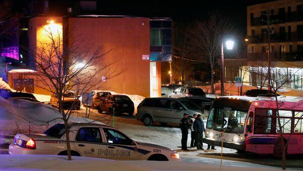 La police devant la Grande mosquée de Québec - Sputnik France
