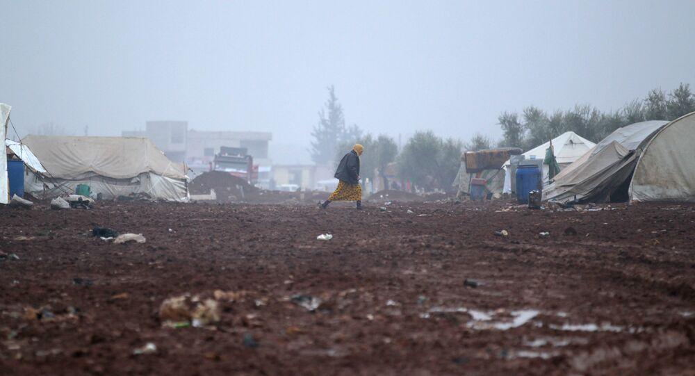 Un camp de réfugiés en Syrie