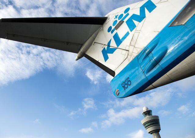 Un avion de ligne de KLM