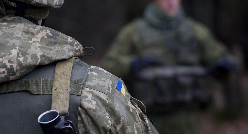 Soldats d'armée ukrainienne. Photo d'archive