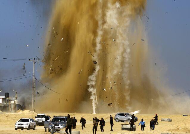 Bande de Gaza: l'aviation israélienne frappe des positions du Hamas