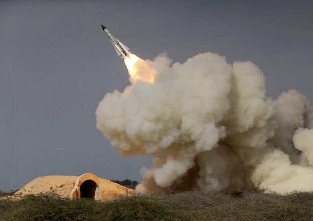Essai d'un missile iranien. Image d'illustration.