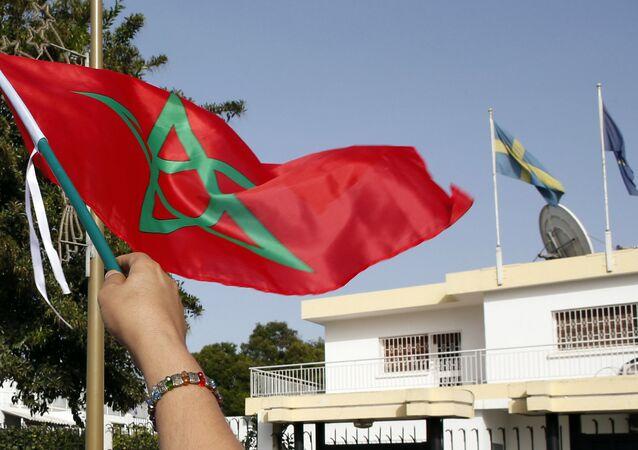 Le drapeau du royaume du Maroc