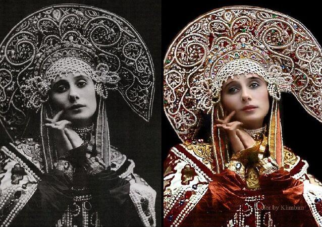 Anna Pavlova en costume russe, 1911