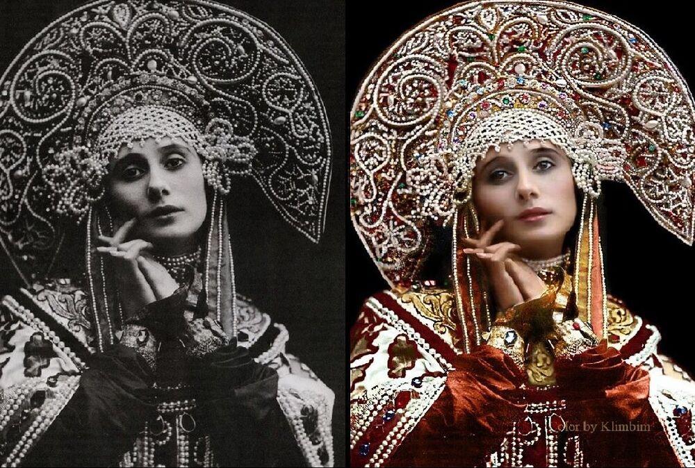 Anna Pavlova en costume russe 1911