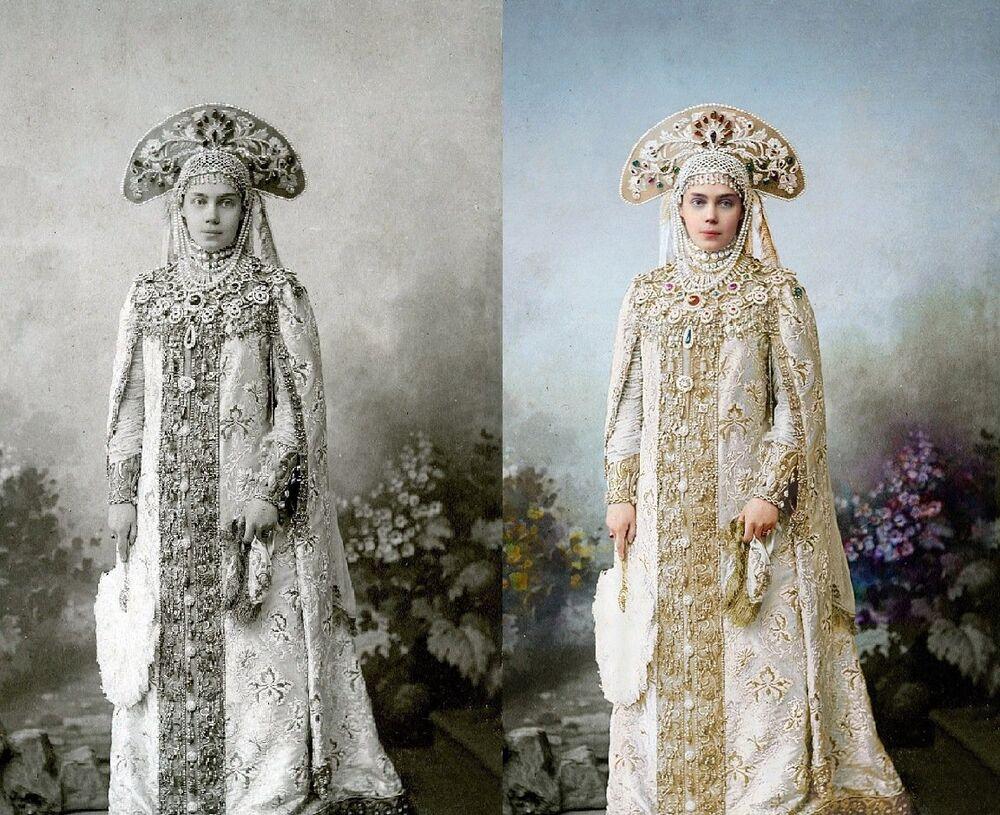 La grande-duchesse Xenia Alexandrovna, Palais d'Hiver, bal costumé, 1903