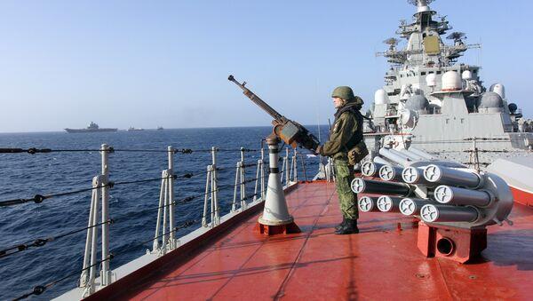 Le croiseur nucléaire russe Piotr Veliki - Sputnik France