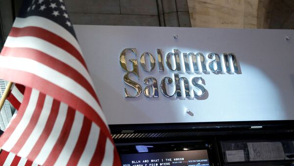 A view of the Goldman Sachs stall on the floor of the New York Stock Exchange - Sputnik France